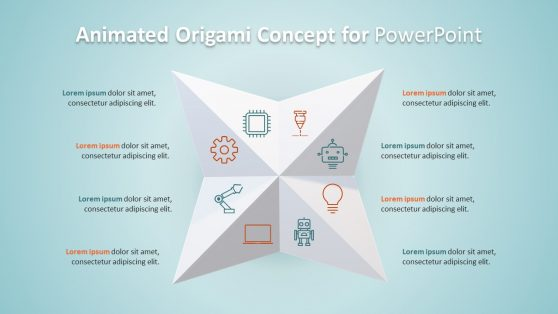 3D Animated Origami Diagram PPT