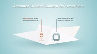 3D Animated Origami Concept PowerPoint Template