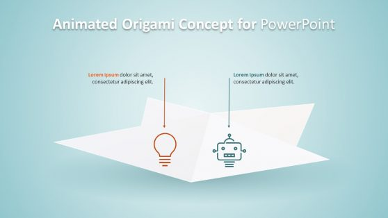 Origami Concept 3D PowerPoint