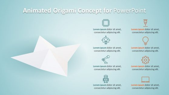 Origami Concept 3D Animated PowerPoint