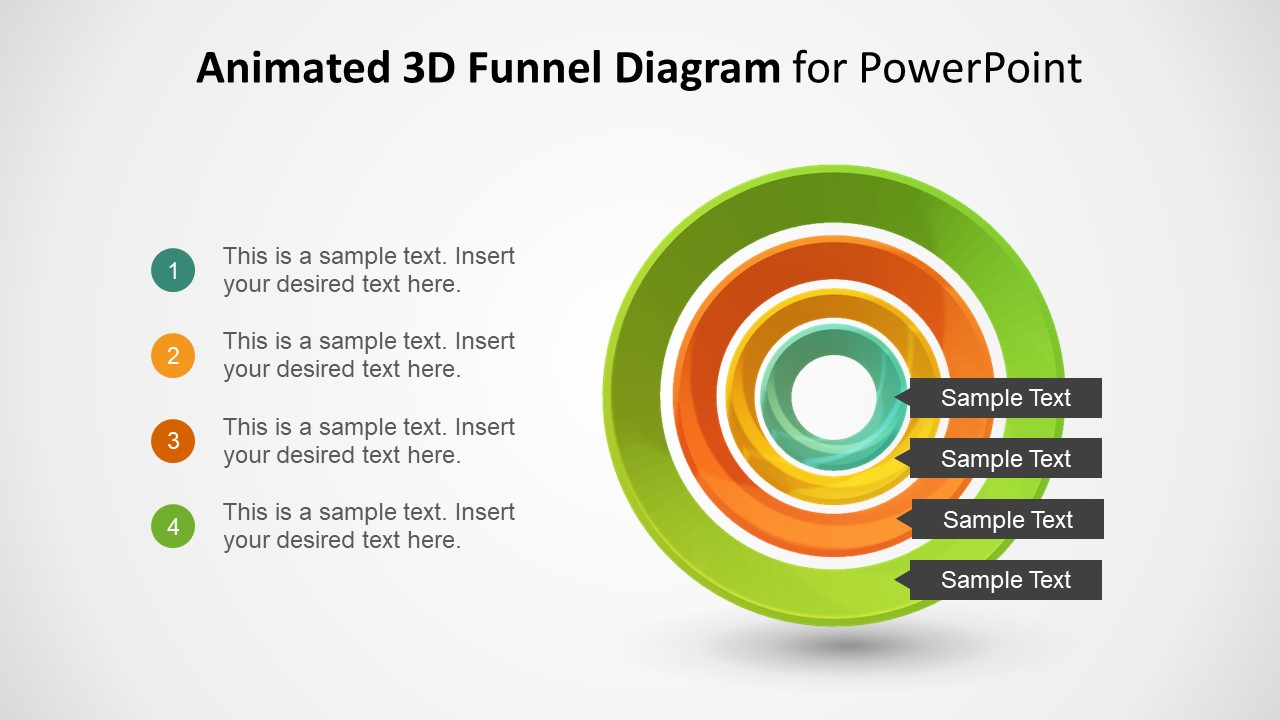 3D Diagram Slide of Funnel