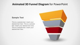 3D Animated 4 Step Pyramid Funnel Concept for PowerPoint