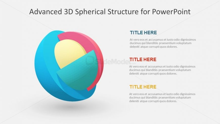 3D Animated Layout of Spheres