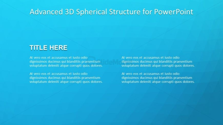 Template of 3D PowerPoint Model