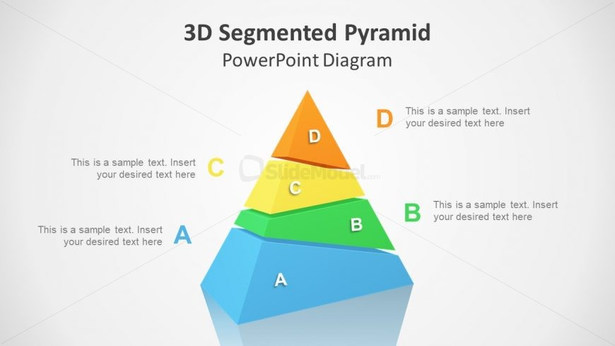 3D Segmented Diagram of 4 Levels