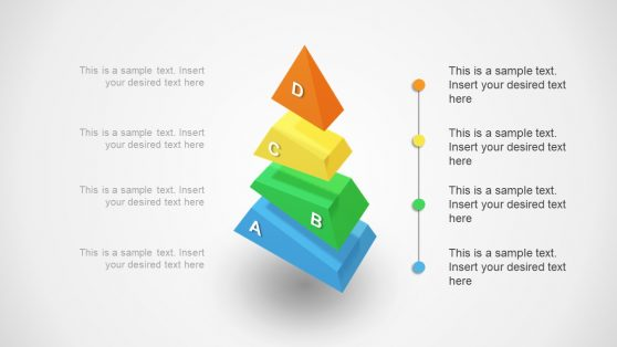 4 Gap Segments PowerPoint Template