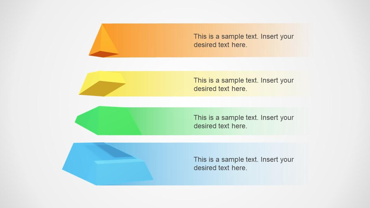 3d segmented pyramid powerpoint template slidemodel