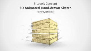 3D Animated 5 Level Concept Hand-Drawn Sketch for PowerPoint