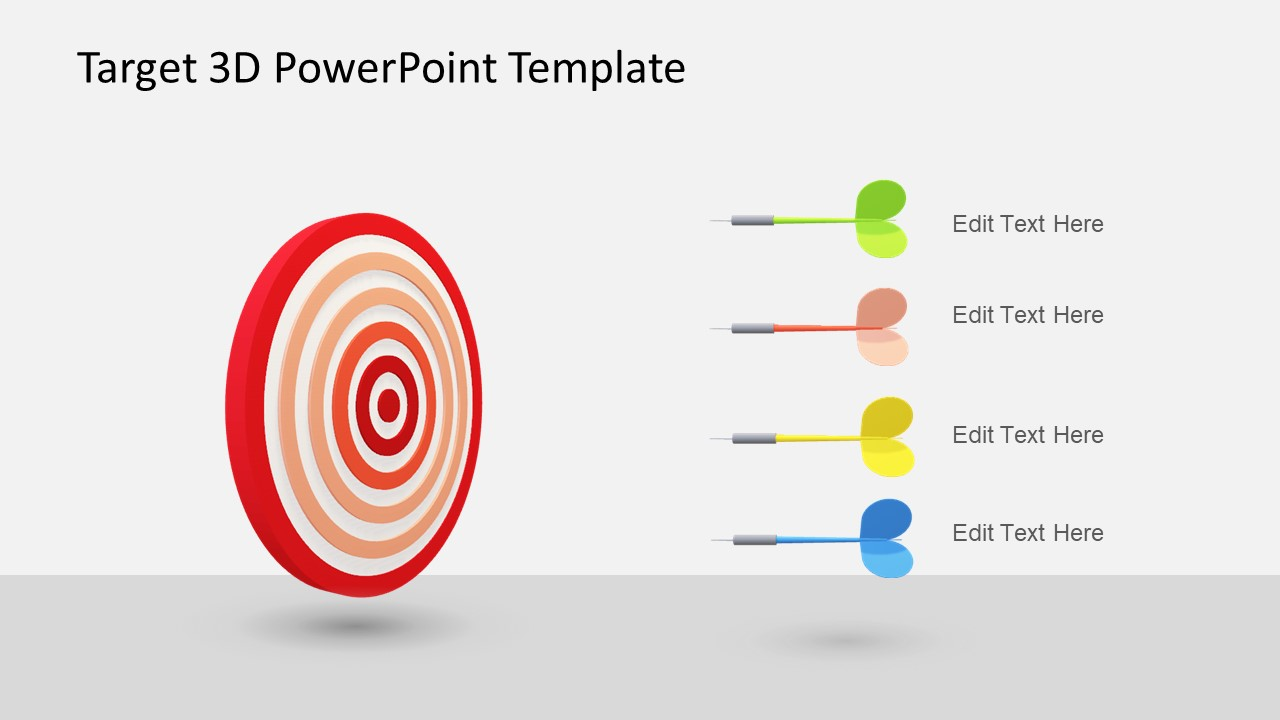 animated 3d target powerpoint template slidemodel