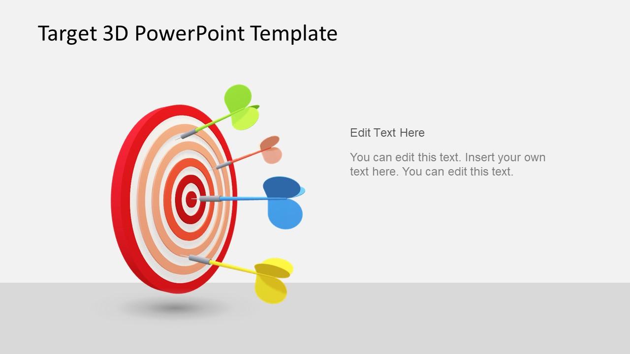 Animated 3d Target Powerpoint Template Slidemodel