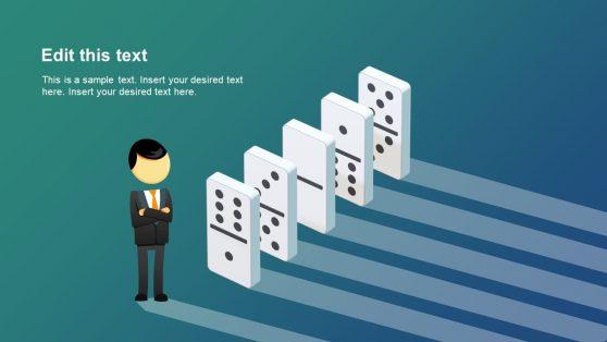 Isometric Domino Effect PowerPoint