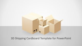 Animated 3D Shipping Cardboard PowerPoint Template