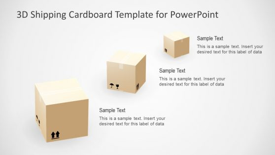 3 Step PowerPoint 3D Cardboard