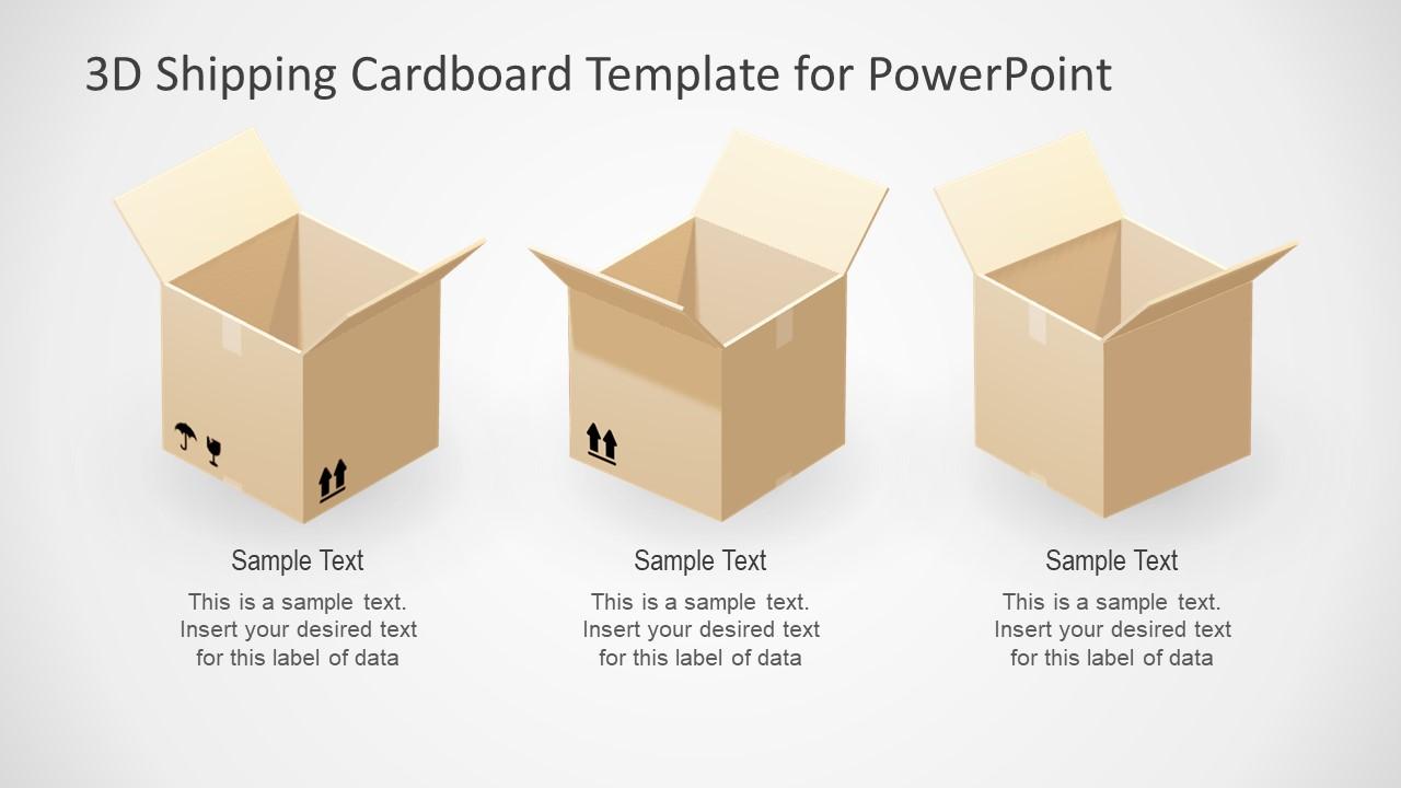 Open Cardboard Shipping Box