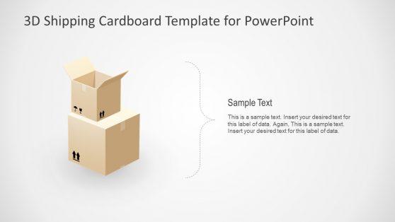 Product Deliver 3D Courier Box Presentation