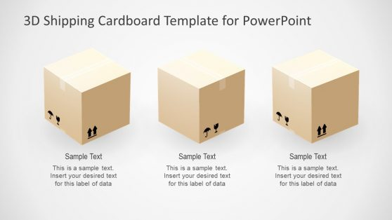 Shipping Concept Cardboard Template