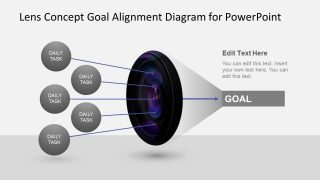 Animated Lens Concept for Goals Alignment PowerPoint Template