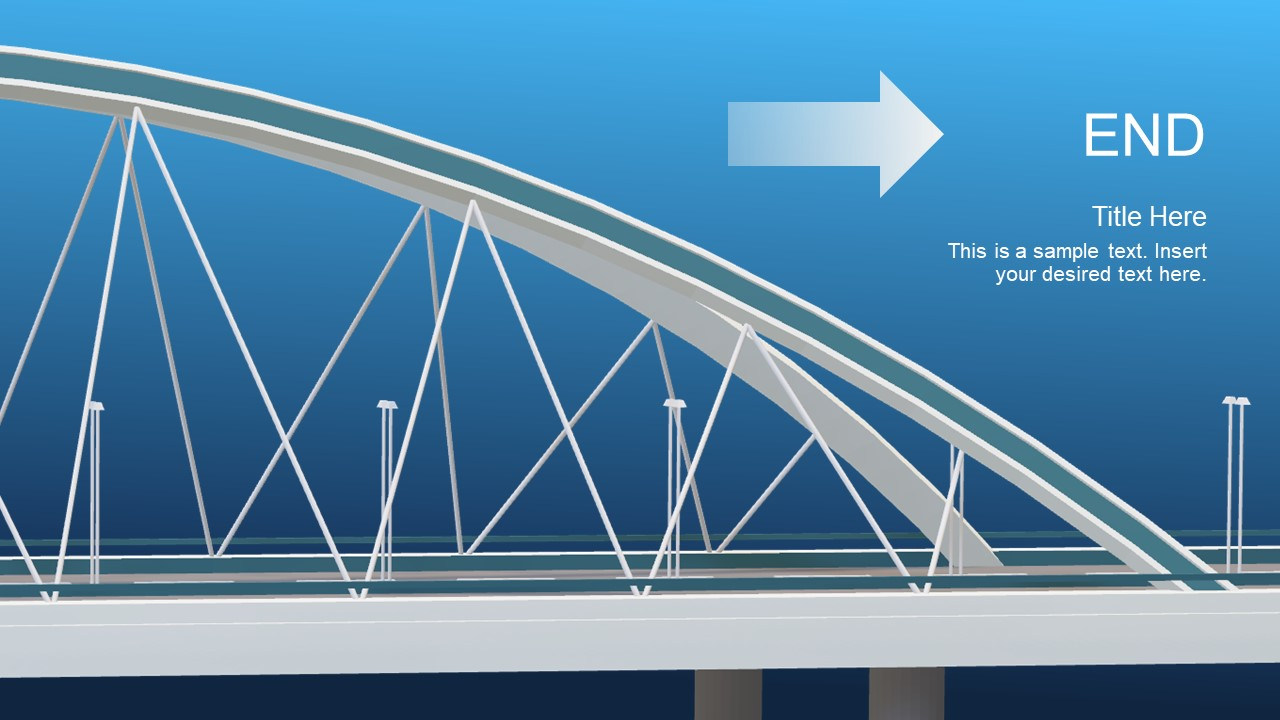animated 3d bridge powerpoint template