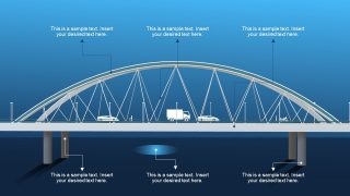 PPT Bridge with Cars Communication Concept