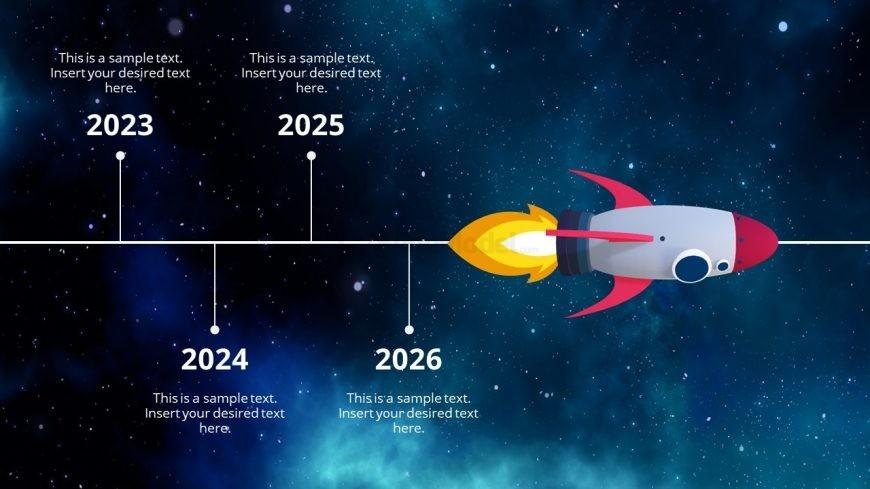 3D Presentation of Timeline Concept