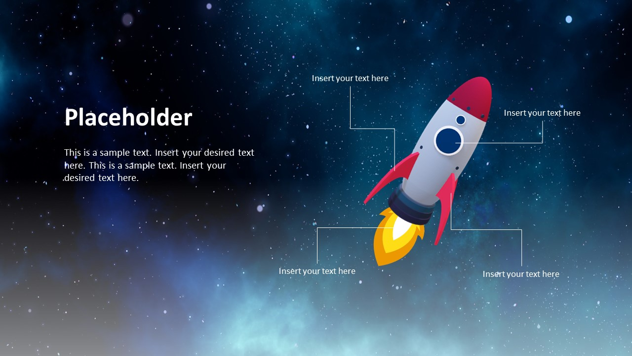 animated 3d spaceship timeline concept for powerpoint slidemodel