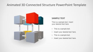 8 Item Animated 3D Connected Structure PowerPoint Template