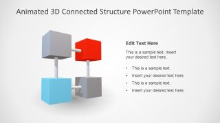 Template of 3D Cubes PPT
