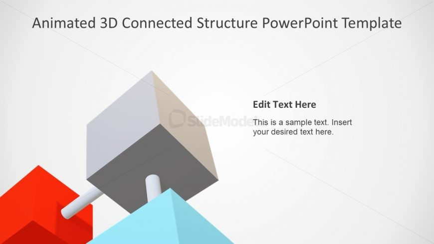 Gray Segment Slide 4 Items
