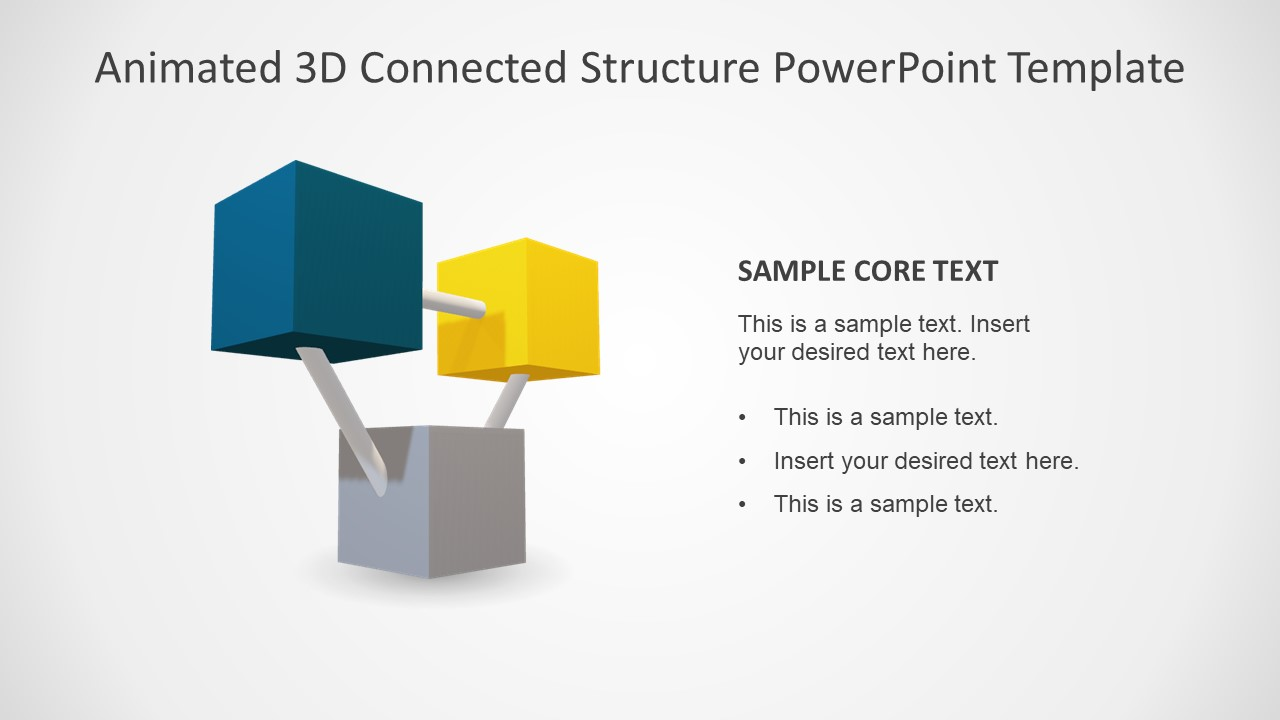 PPT 3D Template 3 Segments