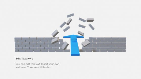 Wall Crossing Arrow 3D PowerPoint
