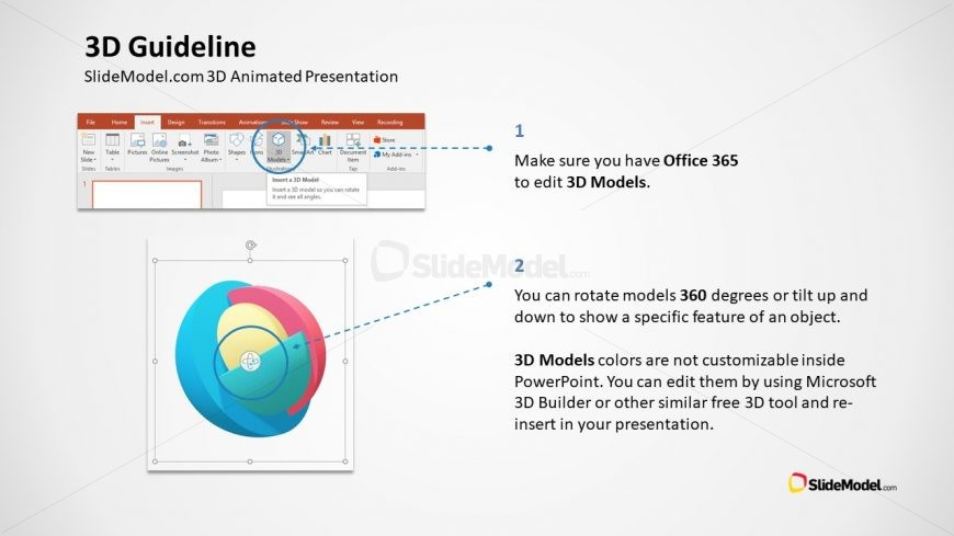 Assistance for PowerPoint 3D Use