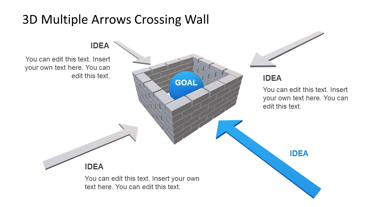 Goals in Wall Crossing Concept PowerPoint