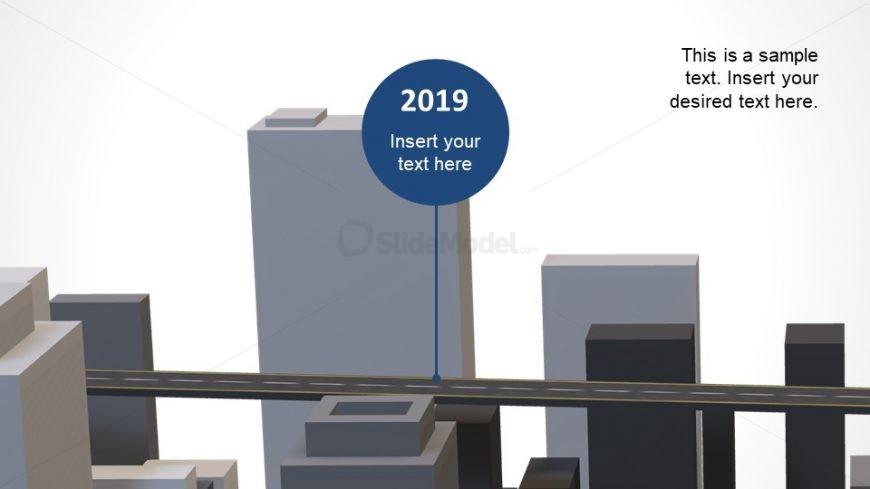 3D Model of PowerPoint Roadmap