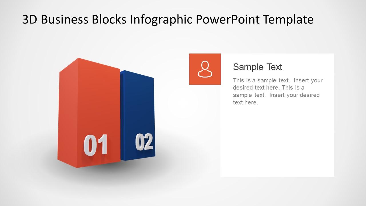 Animated PowerPoint Diagram of Blocks