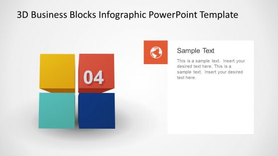 4 Steps Animated PowerPoint 3D Model