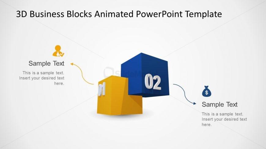 Cube Blocks Template 2 Steps