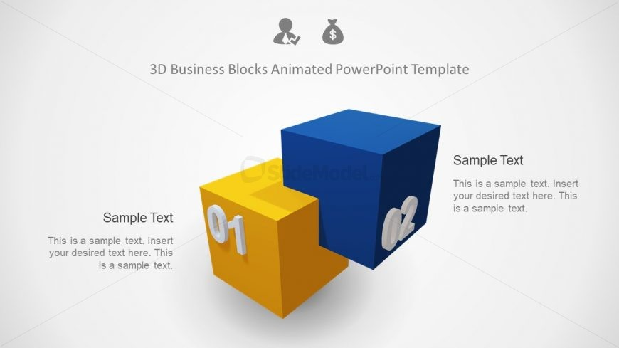 Animated Template of 3D Blocks