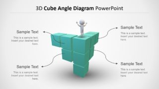 3D Cube Angle Diagram PowerPoint