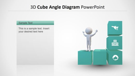 3D Cube Angle Diagram PPT