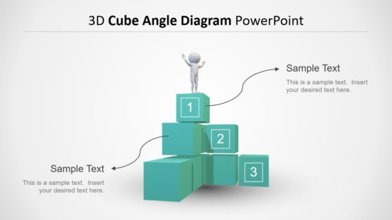 3D Model of Angle Diagram Template