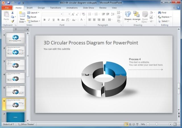 4 Step Circular Process Diagram