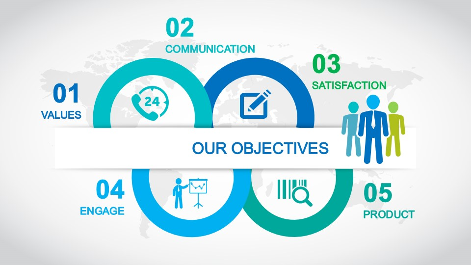 Goals amp Objectives Slide Design For PowerPoint SlideModel