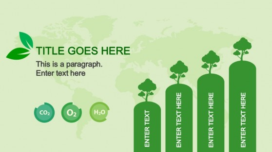Animated Bar Chart in Natural Resources PowerPoint Template
