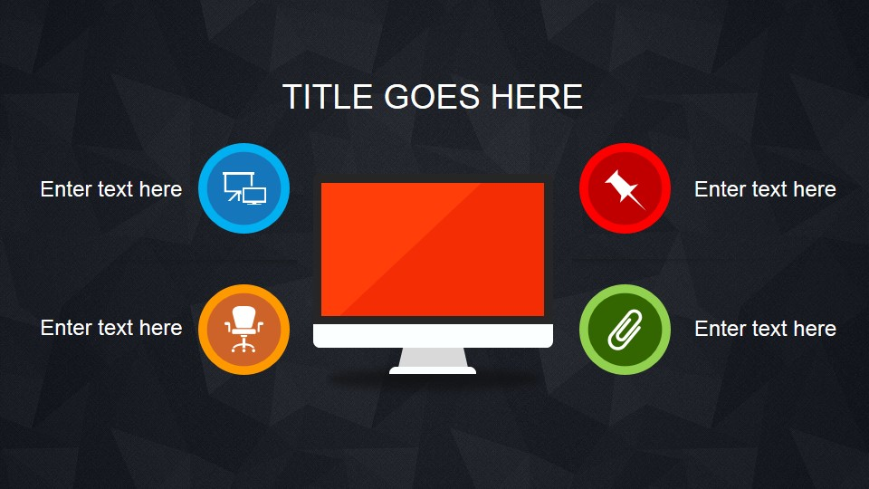 Simple animated powerpoint template slidemodel 4 points and display clipart for powerpoint toneelgroepblik Images