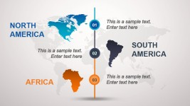 South America, North America & Africa Slide for PowerPoint