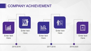 Company Achievement Slide Design Timeline