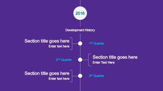 Flat Vertical Timeline Design for PowerPoint