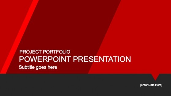 red portfolio powerpoint template slidemodel. Black Bedroom Furniture Sets. Home Design Ideas