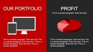 Portfolio & Profit Slide Design for PowerPoint