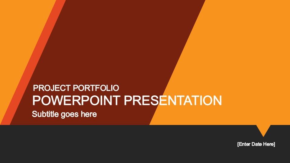 yellow portfolio powerpoint template